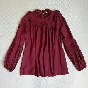Jodifl Brand Boho style tunic/blouse EUC size sm.